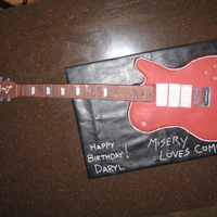 Guitar Cake made to resemble the clients Les Paul guitar. It was a surprise and displayed while the band finished up their set. I was unhappy with...