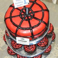"Spidey Cake   Gave this cake to my baby's ""batchmate""."
