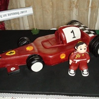"Ferrari Car Cake 18"" chocolate ferrari car cake"