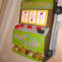 30Th Anniversary Slot Machine Cake