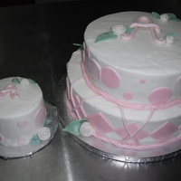 Aubrys First Birthday vanilla cake, b/c finish, fondant accents. Tfl