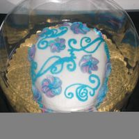 Filligre Easter Egg Buttercream filigre easter egg