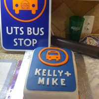 Bus Sign Cake A grooms cake for a groom who used to be a transit bus driver. Modeled after the sign, also pictured here, the cake was covered in a...