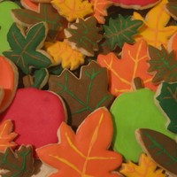 Autumn Cookies Decorated sugar cookies.