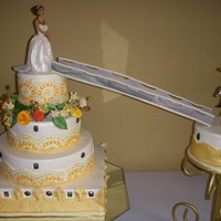 Fairy-Tale Wedding Cake Knight coming up to (rescue) princess!