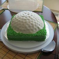 Golf Ball Cake For my girlfriend's Dad.