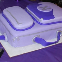 Purple Suitcase Cake Purple suitcase cake made in way too big of a hurry for farewell party. Got idea from Melz (amazing suitcase) thanks Mel. Had issues with...