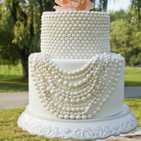 String Of Pearls Wedding Cake This cake was featured in Get Married magazine.