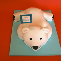 Polar Bear Birthday Cake All made of cake.