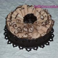 Chocolate Cake With Chocolate Shawings