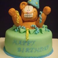 Garfield Cake   Chocolate coffee flavor cake with tiramisu filling. Made for a friend of mine.