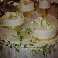 Ava's Wedding This was the cake table and wedding cake I did for my best friend. She wanted Calla Lillies for her flower and a Lime Curd for the filling...