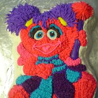 Abbey Cadabby Cake a birthday cake for a 2yr old which is a vanilla cake and decorated with buttercream. Also made cookies and cupcakes to go along with it.