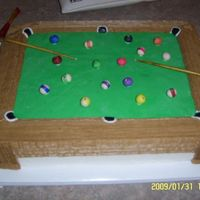 Pool Table Made this one for my nephew's 16th party he loved it did not want us to cut it. Everthing was edible on this cake.