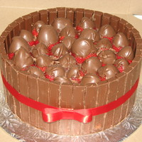 Kit Kat Cake Seen alot of these here on CC and had to make some up- very yummy!