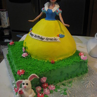 Doll Cake Love the way this turned out. Saw a doll cake here on CC similar, forget who sorry...loved it so I changed it up a bit and added the bunny...
