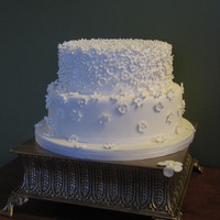 White Round Wedding Cake White round wedding cake .. a May Clee-Cadman design. Soo beautiful wanted to keep it the same!