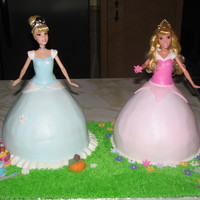 Cinderella And Sleeping Beauty 3D Cakes For my 2 princesses birthdays