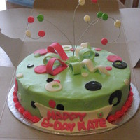 Birthday Cake Saw a cake like this on here and had to mke one- sorry fogot who??Forgot to put number candles in middle of the bow!