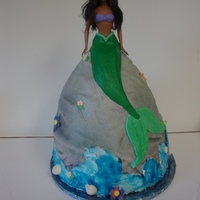 Mermaid Doll this is a HUGE doll cake.... but it was my first attempt atone this size.