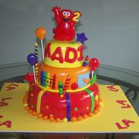 Elmo's World Birthday Cake This is my most recent cake, number 5. I absolutely loved how it turned out. I made the little girls Birthday outfit and that was my...