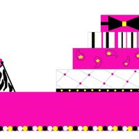 Making A Pattern I have this cake that I am supposed to make and it is supposed to feed 100 and the theme is purses, colors are hot pink yellow, black, and...