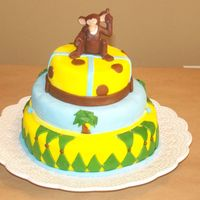 Monkey Cake This was for my sons 1st birthday the theme was monkeys and bananas, it was my 4th cake I believe