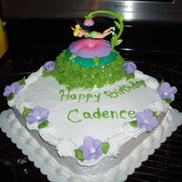 Fairy Birthday My granddaugther changed her mind on what she wanted for her birthday cake at the last minute so I purchased a tinkerbell topper.