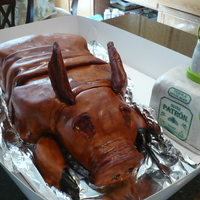Lechon Roasted Pig (Lechon) with Patron Tequilla.