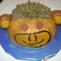 Monkey Smash Cake This monkey smash cake went along with a jungle theme cake for a one year olds birthday.