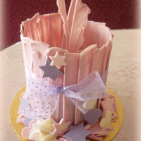 "Tall Scalloped Shards, With Stars, Hearts And Swirls  Cake from 3rd lesson at ""2-Tier Special Occasion Cakes"" course. Wanted to create a fun, modern, girlie, but still somewhat..."