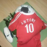 Soccer Ball With Guernsey And Shoe  Made this for my son's 10th birthday, who absolutely loves his soccer. Based the guernsey on Liverpool and just swapped the player&#...