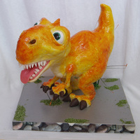 Tyranosaurus Rex   This is cake with marzipane and fondant - 8 lb.