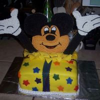 Mickey Mouse Birthday I did this cake for my nephews birthday. I originally did colorflow hands and face, but they did not dry in time! So during my luch hour,...