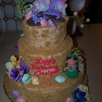 Hawaiian Theme Birthday Cake Birthday cake for little girl that wanted a Hawaiin themed party. She loves her flip flops so I incorportated them in the design. Hawaiin...