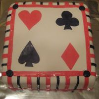 Casino Themed Cake all fondant cake