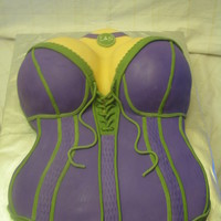 Bridal Shower Corset Cake This cake was done for a bridal shower in the brides color scheme. It was my first corset cake, but i love how it turned out. The logo on...