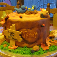 Stump Cake This cake was for a 30th birthday. The birthday girl loves nature, works with a wildlife preserve. I loved doing all the details! There was...