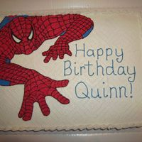 Spiderman Cake Buttercream icing Spidey cake