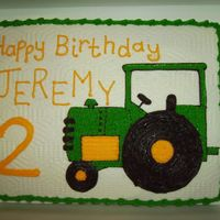 Green Tractor Birthday Cake