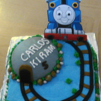 Thomas The Tank!   My first attempt of a Thomas the Tank Cake.