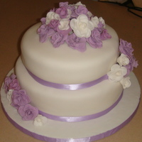 My First Wedding Cake!   Thanks to all CC members for all your good advises!!