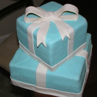 Tiffany Boxes   Tiffany box cake requested for birthday party
