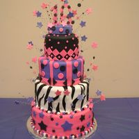 Tc1.jpg my first fondant and first stacked/tier cake