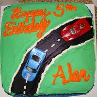 Hot Wheels 5Th Birthday Cake