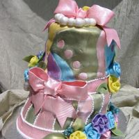 Margo's Cake 2 This is my (much smaller) version of Colette's Caprice de Jaques from Cakes to Dream On. It's for my friend's mom.