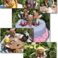Fairy Tea Party I got a call Thursday for a birthday cake for Saturday. It was my DH's boss, so I had to do it. ;) She just said her daughter liked...