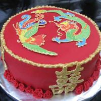 Double Happiness It's actually an engagement cake for a friend who just got engaged to his Taiwanese girlfriend. His mom wanted a cake that would be...
