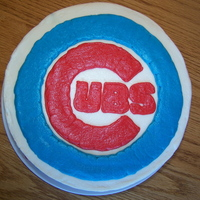 Cub's Cake My son wanted a Chicago Cubs logo cake for his 11th birthday this year. The cake is a 10-inch chocolate chocolate chip cake with vanilla...