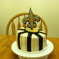 Saints Cake cake i made for my husbands birthday. got the idea from another cc member, sorry, don't remember the name.
